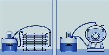 схема подключения к теплообменнику
